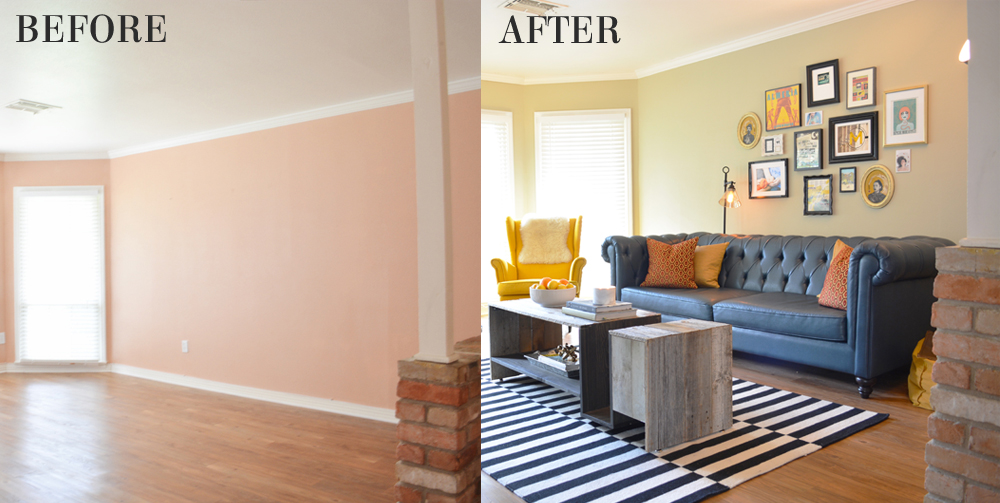 My Eclectic Living Room Makeover After Lesley Myrick