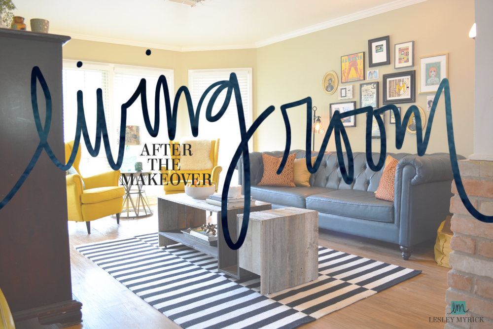 My Eclectic Living Room Makeover – After