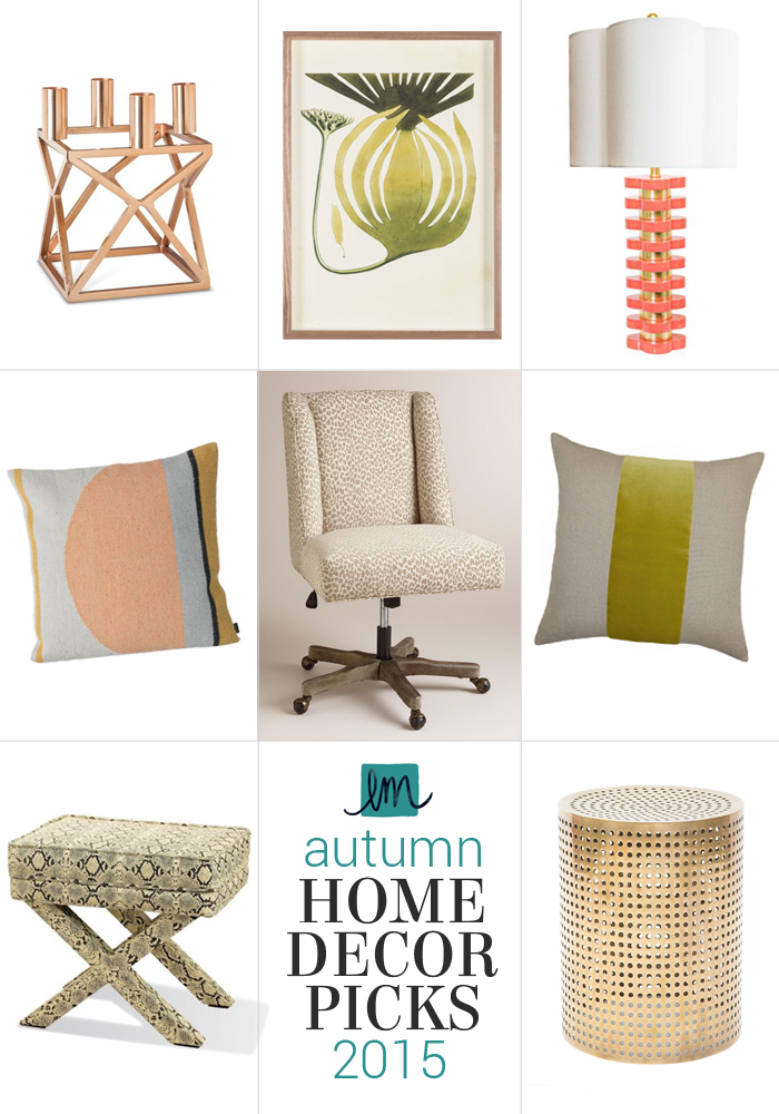 Fall 2015 Home Decor Picks