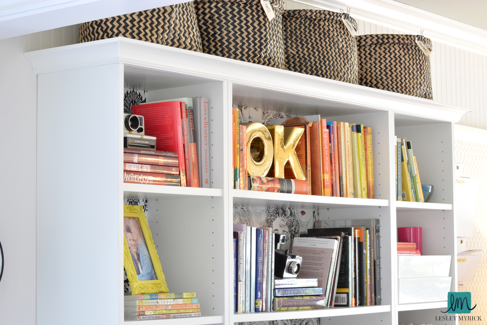DIY Billy bookcase built in with Metrie trim, by interior stylist Lesley Myrick