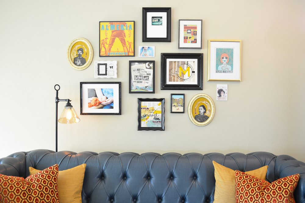 eclectic-and-colorful-living-room-galley-wall-3-by-lesley-myrick