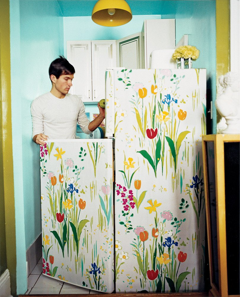 Awesome wallpapered fridge (and other offbeat wallpaper ideas) from Waco interior designer Lesley Myrick