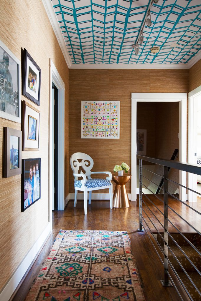 Awesome wallpapered ceilings (and other offbeat wallpaper ideas) from Waco interior designer Lesley Myrick