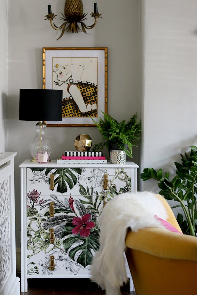 Awesome wallpapered furniture (and other offbeat wallpaper ideas) from Waco interior designer Lesley Myrick