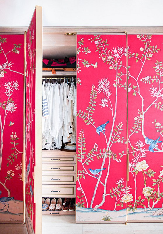 Awesome wallpapered closet doors (and other offbeat wallpaper ideas) from Waco interior designer Lesley Myrick