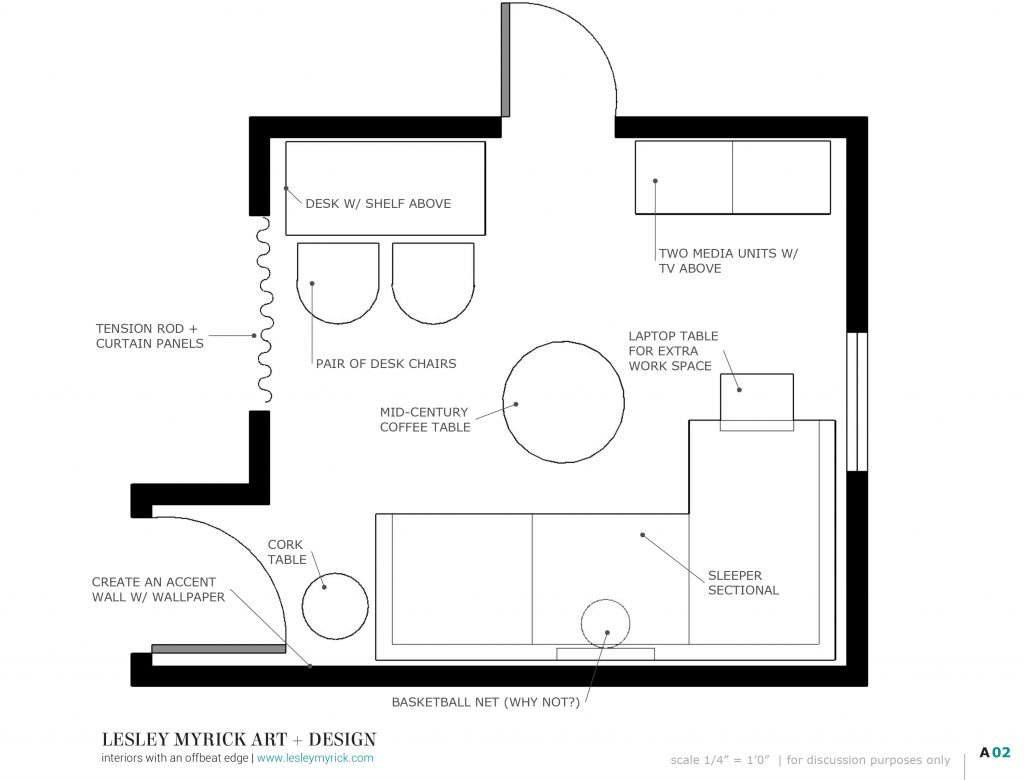 How to Work With a Virtual Interior Designer - tips from Atlanta designer Lesley Myrick