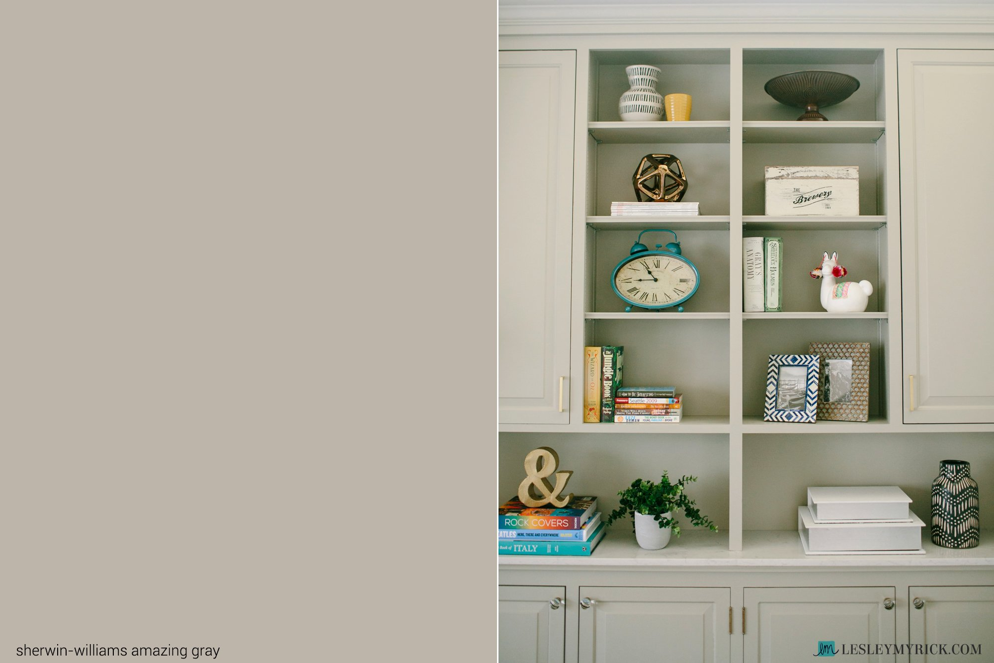 Best gray paint color: Sherwin-Williams Amazing Gray