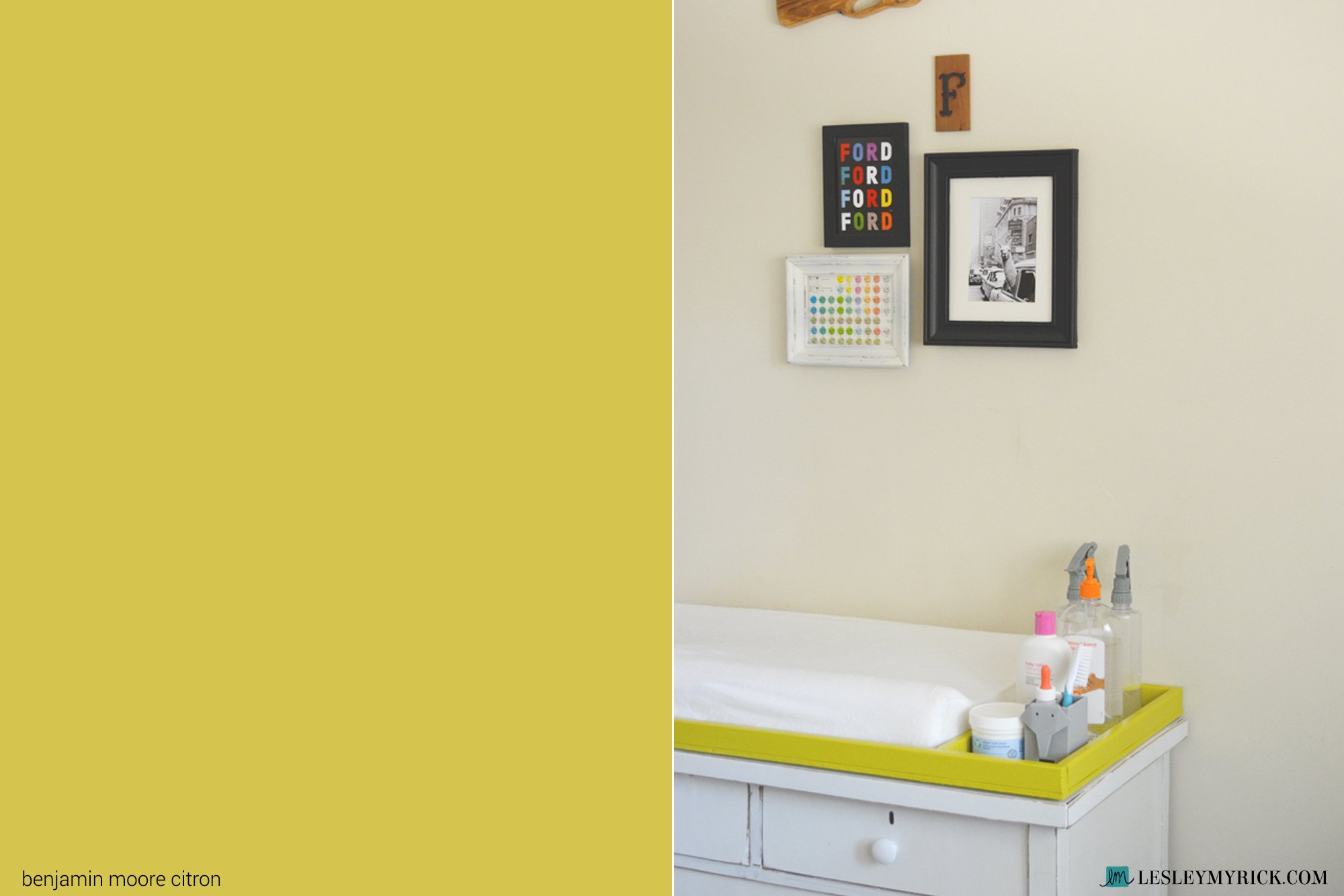 Best bold paint color: Benjamin Moore Citron