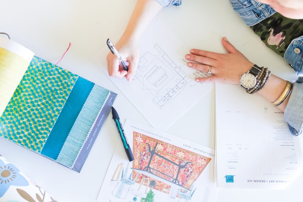 Atlanta interior designer Lesley Myrick shares the (totally free!) Complete Beginner's Guide to Working with an Interior Designer. Get an insider look at what really goes into the 10 steps of a full-service design project.
