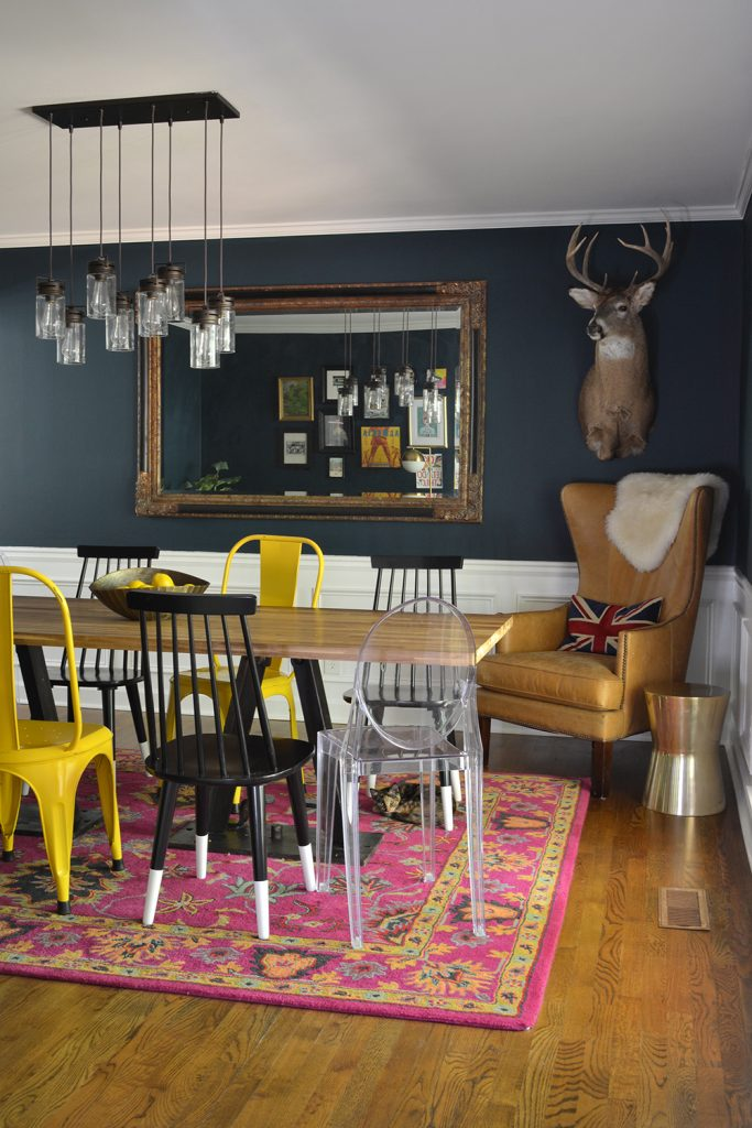 Before and After: A Navy Dining Room in Atlanta, Georgia by interior designer Lesley Myrick