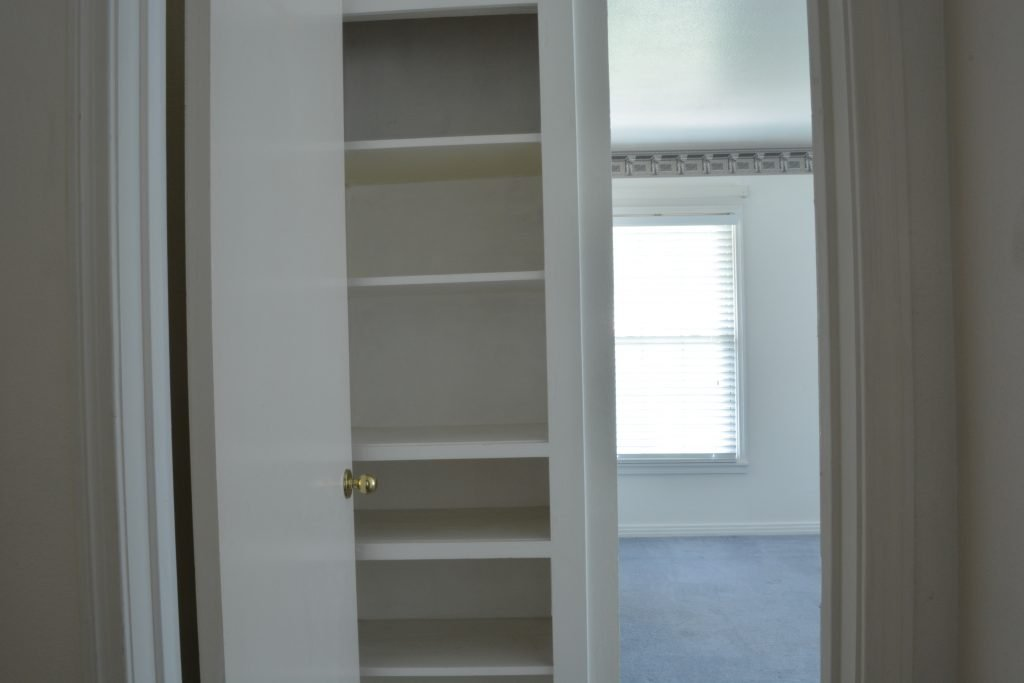 """Here's the """"before""""...check out the stunning """"after"""" of this shared kids bedroom design."""