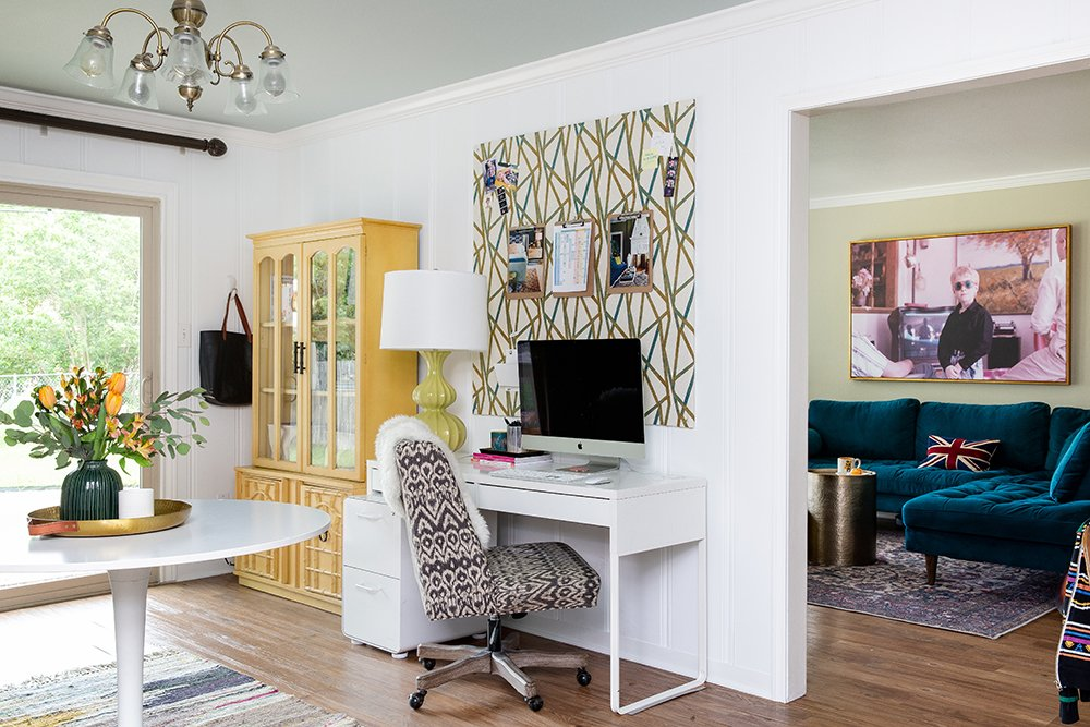 Before and After: an interior designer's office in Texas