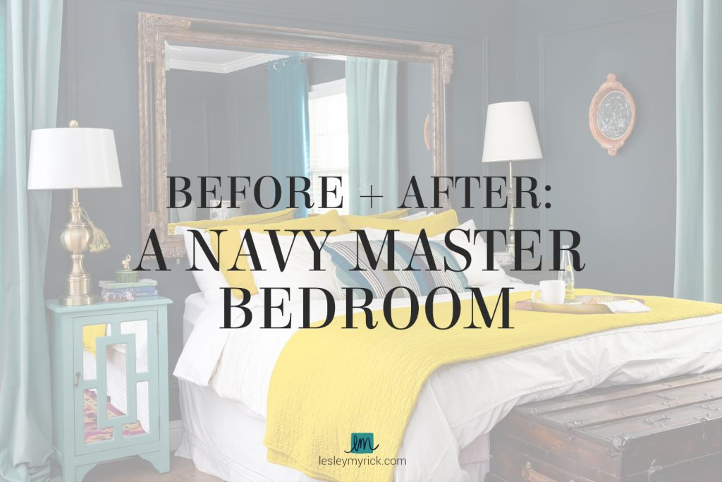 Before and After: A Navy Master Bedroom That Doesn't Feel Like a Cave