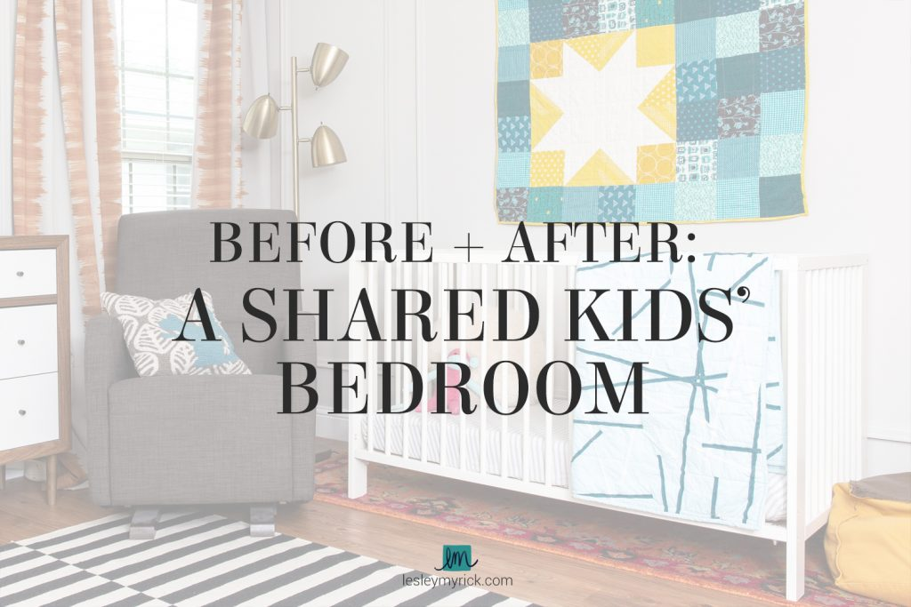 Before and After: A Shared Kids Bedroom in Waco, Texas