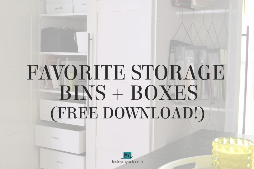 Interior designer (and professional organizer) Lesley Myrick's favorite storage bins and boxes