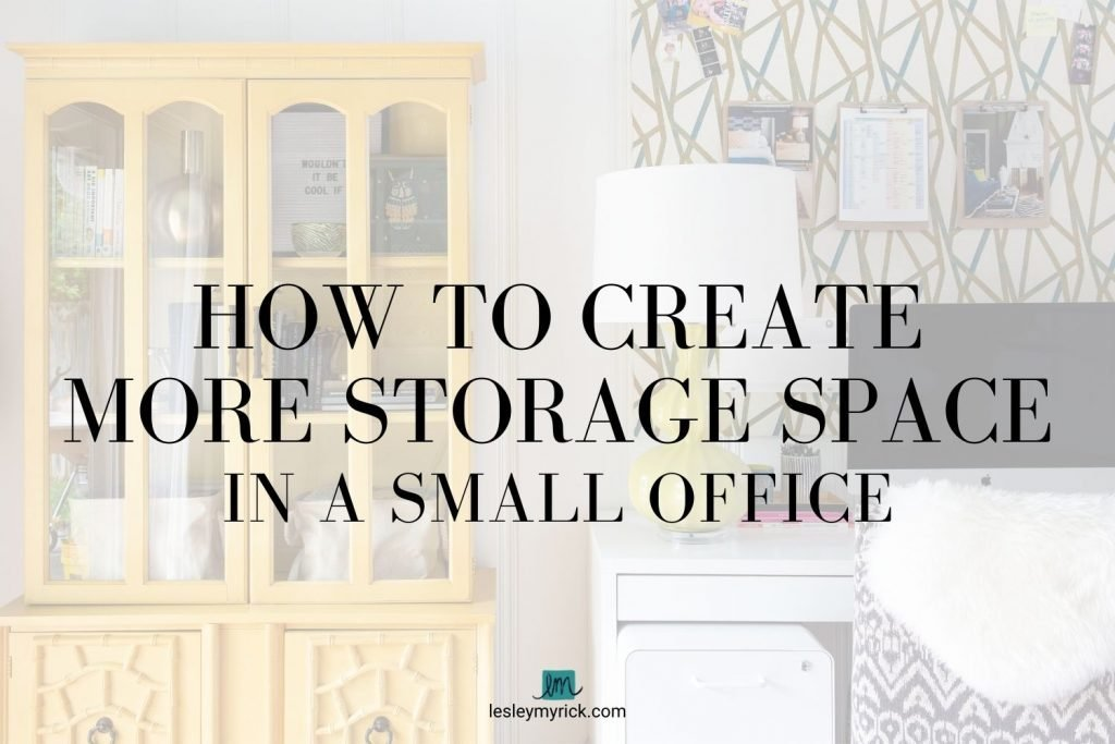 If you're feeling cramped in your home workspace and are in desperate need of additional storage for all the things, here's how to create more storage space in a small office.