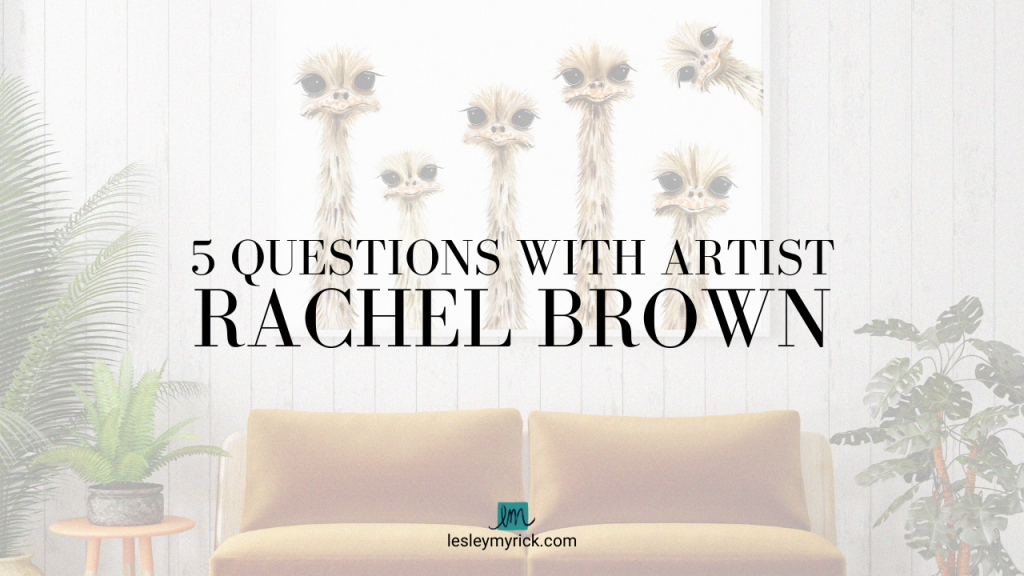 5 questions with artist Rachel Brown and her whimsical, happy, and playful art style
