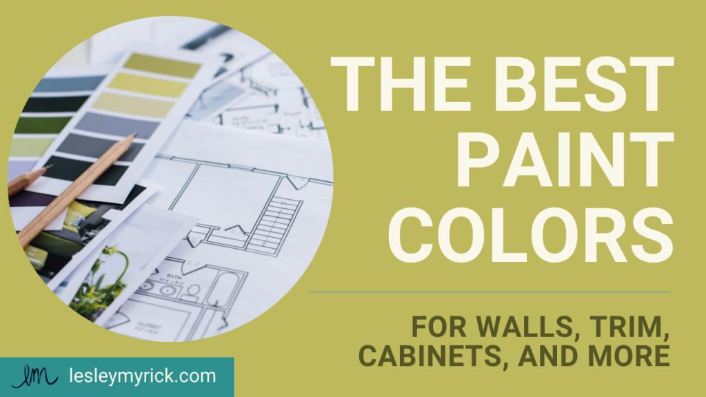 The best paint colors