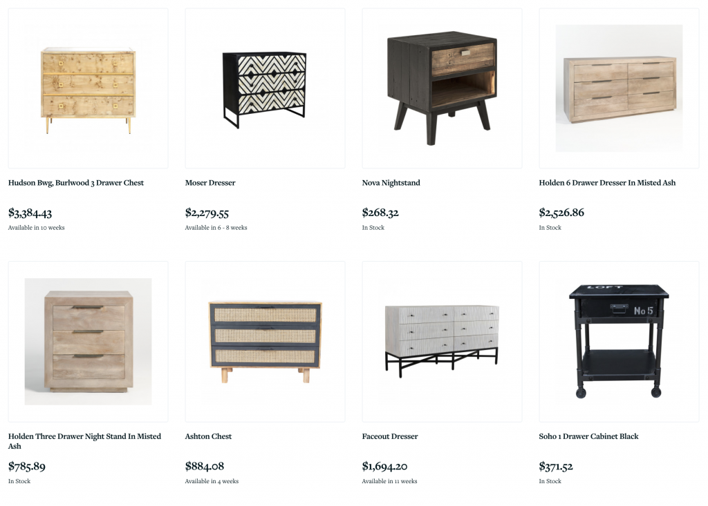 The Shoppe at Lesley Myrick Interior Design: Nightstands and Chests