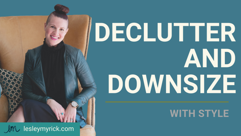 Even if you're not moving to a different home or physically changing spaces, decluttering and downsizing is always helpful to keep in mind in your current home. Less is more! Here's how to declutter and downsize - with style.