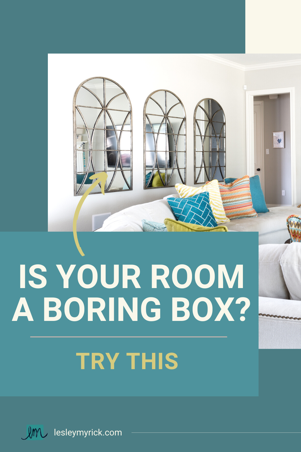 Is your room a boring box? Try this!