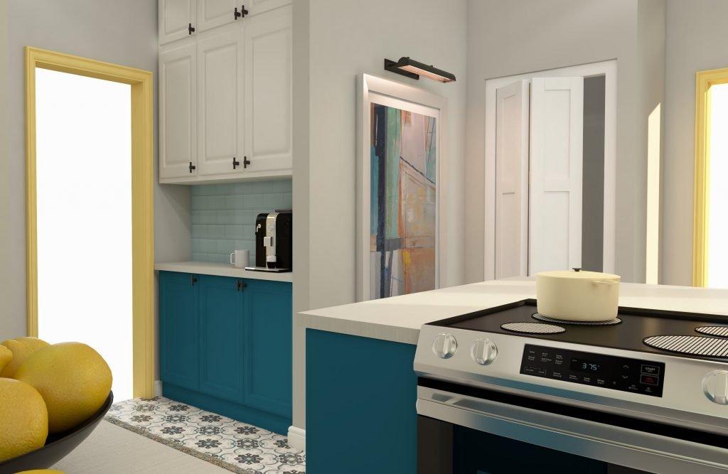 historic-blue-yellow-kitchen-coffee-bar