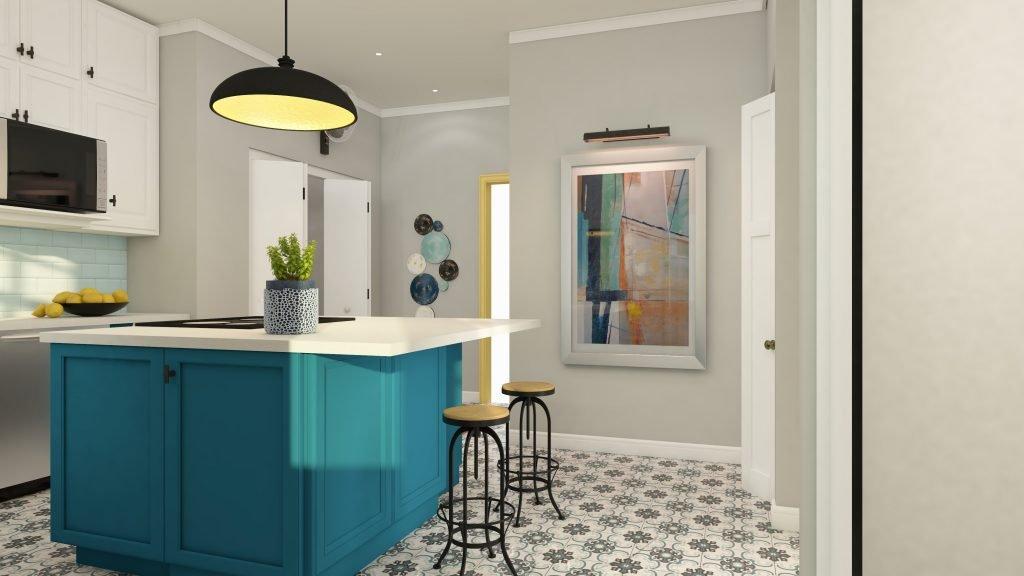 historic-blue-yellow-kitchen-island