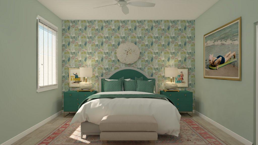 modern-1920s-bungalow-green-bedroom-wallpaper